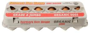 The Farmer's Hen Organic Grade A Jumbo Eggs