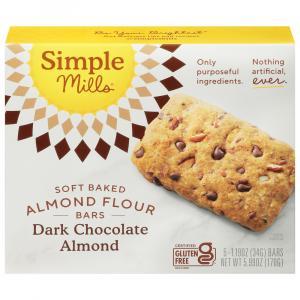 Simple Mills Gluten Free Dark Chocolate Almond Bars
