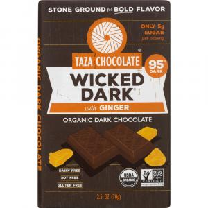 Taza Organic Wicked Dark Chocolate with Ginger