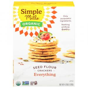 Simple Mills Organic Seed Flour Crackers Everything