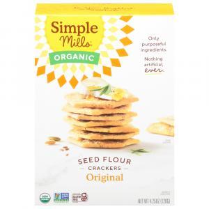 Simple Mills Organic Seed Flour Crackers Original