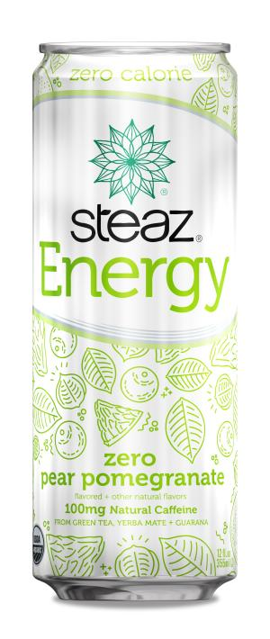 Steaz Organic Zero Pear Pomegranate Energy Drink