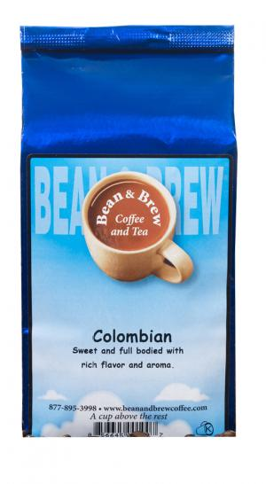 Bean & Brew Whole Bean Colombian Coffee