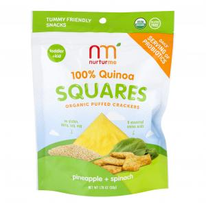 Nurtureme Organic Quinoa Pineapple & Spinach Squares