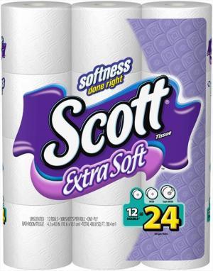 Scott Extra Soft Bathroom Tissue Double Roll