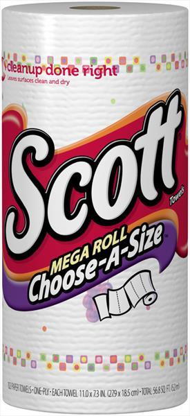 Scott Towel Mega Roll Prints Paper Towels