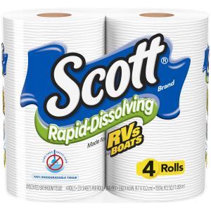 Scott Rapid Dissolving Bath Tissue