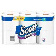 Scott 1-Ply Bath Tissue
