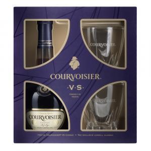 Courvoisier VS Cognac with 2 Exclusive Lowball Glasses