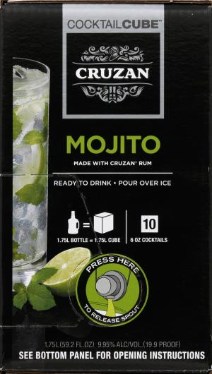 Cruzan Ready to Drink Mojito Cocktail Cube