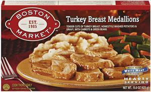 Boston Market Turkey W/mashed Potatoes & Vegetables