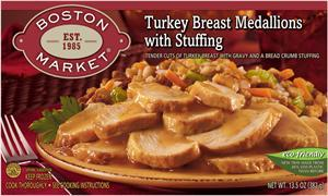 Boston Market Turkey Breast Medallions W/stuffing