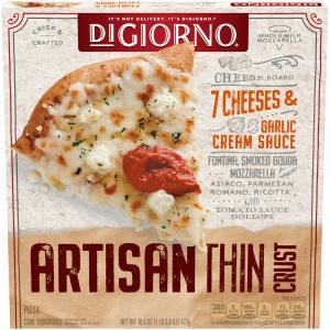 DiGiorno Artisan Thin Crust 7 Cheese & Garlic Cream Sauce