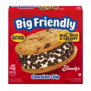 Friendly's Big Chocolate Chip Ice Cream Sandwiches