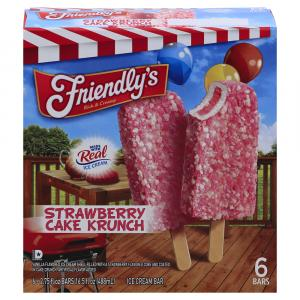 Friendly's Strawberry Cake Krunch Bars