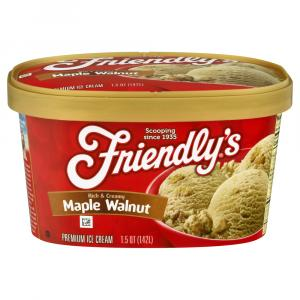 Friendly's Maple Walnut Ice Cream