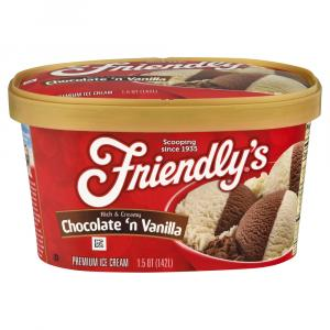 Friendly's Chocolate & Vanilla Ice Cream