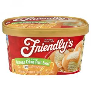 Friendly's Orange Creme Swirl Ice Cream