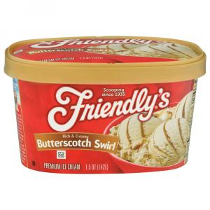 Friendly's Butterscotch Swirl Ice Cream