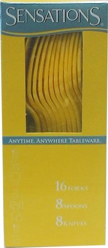 Sensations Cultery Godlen Yellow