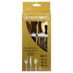 Sensations Assorted Metallic Gold Cutlery