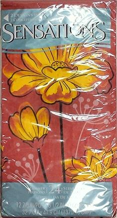 Sensations Dinner Napkins Bold Blossoms
