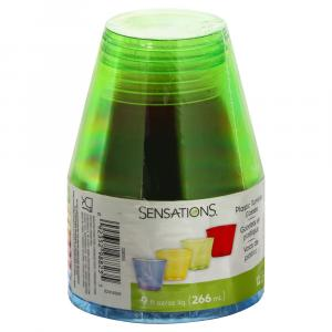 Sensations 9 Oz. Assorted Colors Plastic Tumbler