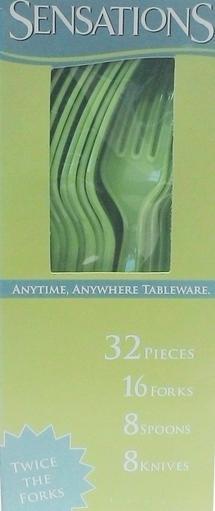Sensations Assorted Cutlery Green