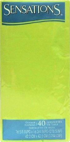 Sensations Dinner Napkins Wasabi Green