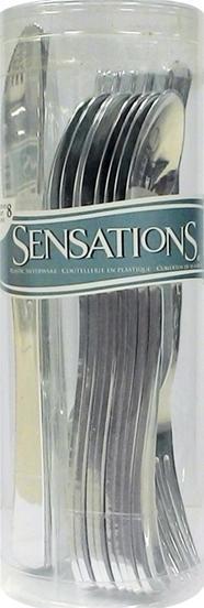 Sensations Assorted Cutlery Metallic Silver