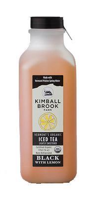 Kimball Brook Farm Organic Black Tea with Lemon Sweetened