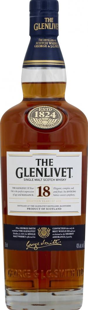 Glenlivet 18 Year Old Scotch