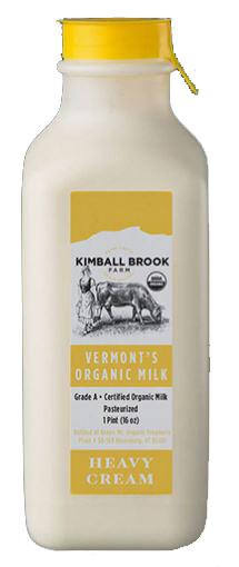 Kimball Brook Farm Organic Heavy Cream