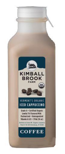 Kimball Brook Farm Organic Iced Cappuccino Low Fat Milk
