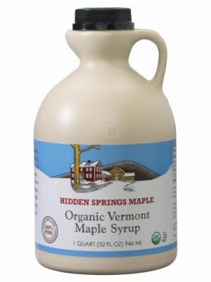Hidden Springs Maple Organic VT Maple Syrup Grade A Amber