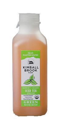 Kimball Brook Farm Organic Green Tea with Mint UnSweetened
