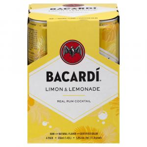 Bacardi Limon & Lemonade Cocktail