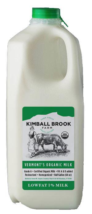 Kimball Brook Farm Organic Lowfat 1% Milk