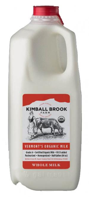 Kimball Brook Farm Organic Whole Milk