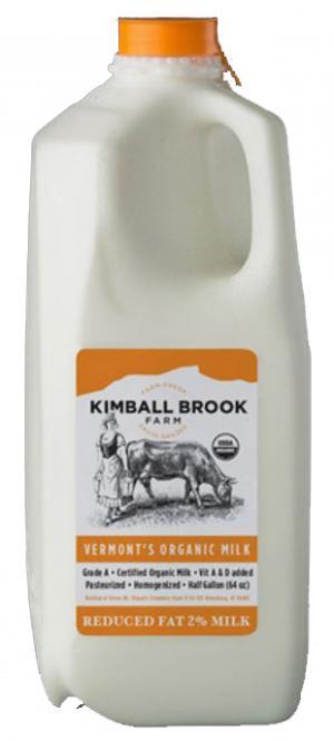 Kimball Brook Farm Organic Reduced Fat 2% Milk