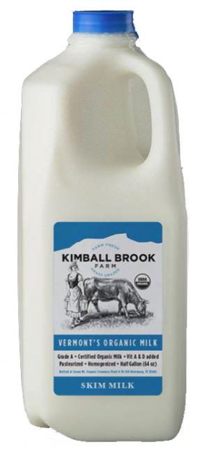 Kimball Brook Farm Organic Skim Milk