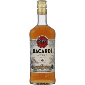 Bacardi Anejo Cuatro 4 Year Aged Gold Rum