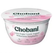 Chobani Less Sugar Greek Yogurt Willamette Raspberry