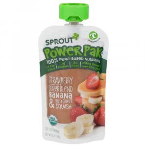Sprout Power Pak Organic Strawberry with Superblend Banana &