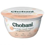 Chobani Less Sugar Greek Yogurt Clingstone Peach