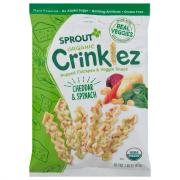Sprout Organic Crinklez Popped Veggie Snack Cheesy Spinach