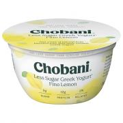 Chobani Less Sugar Greek Yogurt Fino Lemon