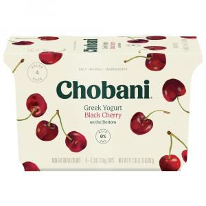 Chobani Greek Black Cherry on the Bottom Yogurt