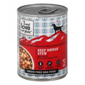 """I and Love and You"" Canned Dog Food Beef Booyah Stew"