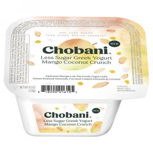 Chobani Less Sugar Greek Yogurt Mango Almond Coconut Crunch